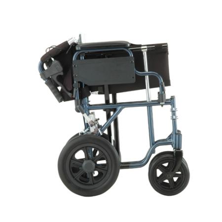 Nova Lightweight Aluminum Transport Chair with Flip-Back Arms & Handbrakes