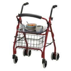 rolling walker tray