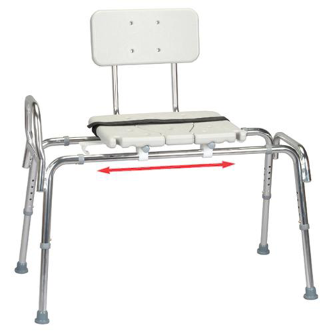 Eagle Health Snap N Save Sliding Transfer Bench With