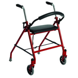 Basic Two Wheeled Walker Red