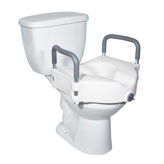Drive Raised Toilet Seat With Arms.Drive Locking Raised Toilet Seat With Removable Arms Bellevue