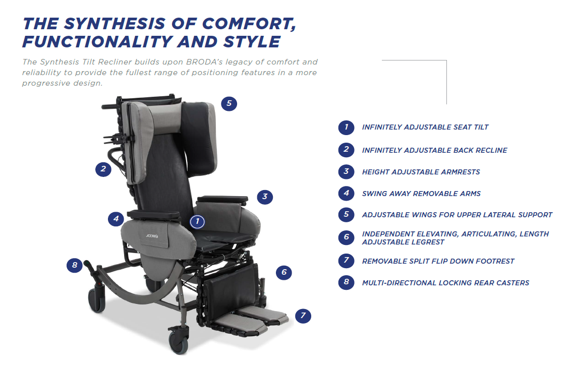 Broda Synthesis Tilt Recliner Bellevue Healthcare