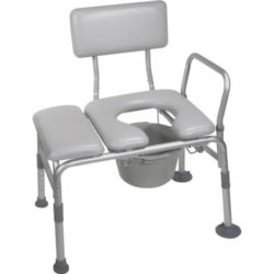 Drive Padded Transfer Bench with Commode