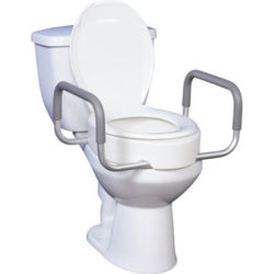 Drive Premium Raised Toilet Seat with Removable Arms